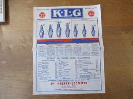 PARIS ETABLISSEMENTS PREFER-LECOMTE 8 RUE MYRHA K.L.G BOUGIES DE SERIE PRIX IMPOSE 32 FRS BOUGIES PLATINE - 1950 - ...