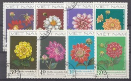 VIETNAM 1982  MI.NR. 1240-1247 Dahlien  USED / GEBRUIKT / OBLITERE - Vietnam