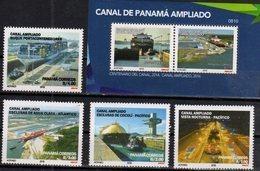 PANAMA , 2018, MNH, NEW PANAMA CANAL, SHIPS, 4v+S/SHEET - Ships