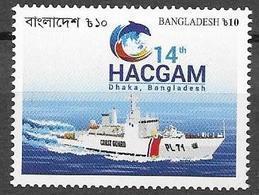 BANGLADESH, 2019, MNH, HEADS OF ASIAN COAST GUARDS, SHIPS, DOLPHINS,   1v - Ships