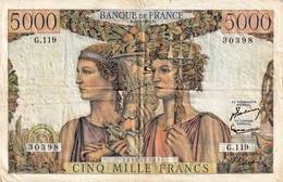 France 5000 Francs 1953 - 1871-1952 Frühe Francs Des 20. Jh.