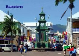 Saint Kitts Basseterre Berkeley Memorial Clock Tower New Postcard - Saint-Christophe-et-Niévès