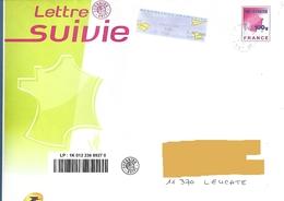 Enveloppe PAP Lettre Suivie 100 Gr + Vignette Lisa DD - Entiers Postaux