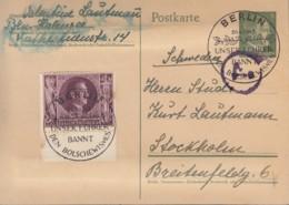 DR P 298 I Mit ZFr. 848, Mit SoSt: Berlin ...bannt Den Bolschewismus 20.4.1943 - Briefe U. Dokumente