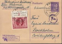 DR P 312 A/02 Mit ZFr. 847, Mit SoSt: Berlin ...bannt Den Bolschewismus 20.4.1943 - Briefe U. Dokumente