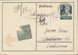 DR P 253, Ins Ausland (Schweden) Mit Nachporto, Mit St: Münster 17.12.1934 - Briefe U. Dokumente
