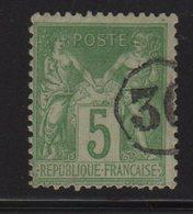 Type Sage - Jour De L An - 30 - Chiffre Dans Un Cercle - 1876-1898 Sage (Type II)