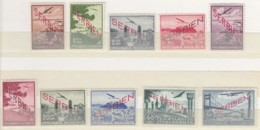 DR Bestetzung SERBIEN, 16-25, Postfrisch *, Flugpostmarken Mit Aufdruck 1941 - Occupation 1938-45