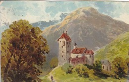 AK Künstlerkarte Theuerkauf - Burg Im Gebirge - 1912  (48422) - Altre Illustrazioni