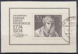 DDR  Block 40, Gestempelt, Caspar David Friedrich 1974 - [6] Repubblica Democratica