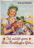 AK München - Gruß Vom Oktoberfest - Ich Möcht Gern Dein Herzklopfen Hören - Humor - Stempel Festhalle - 1956 (48423) - Muenchen