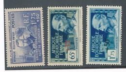 AEF - N°YT 63/65 NEUFS* AVEC CHARNIERE - 1938 - A.E.F. (1936-1958)