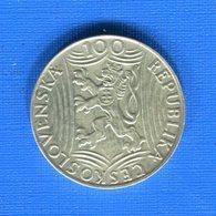 Répu  Tchécoslovaquie   100 Koru  1949 - Tchécoslovaquie
