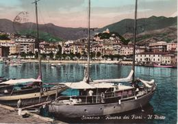 SANREMO - IL PORTO - ANIMATA CON BARCHE - ACQUERELLATA - VIAGGIATA 1958 - San Remo