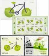 2016 Lithuania -Europa CEPt Living Green  - Set Of 2 V And Booklet Of 6 V - Paper - MNH** Mi 1217/1218 +MH - Lithuania