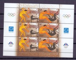 2004 Slovenia Olympic Games In Athens Track And Field Disc,  High Jump Sheetlet MNH** MiNr. 471 - 472 - Slovenia
