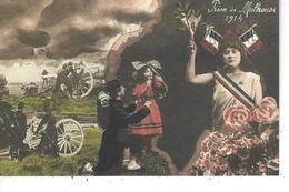 68 - MULHOUSE - T.B. Carte De La Prise De La Ville En 1914 ( Militaires , Canons ) - Mulhouse