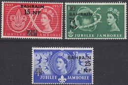BAHRAIN 50 Jahre Pfadfinder- Bewegung SCOUTS  Satz MiNr. 299-301  1957 ** (5285 - Scoutismo
