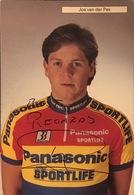 Postcard Jos Van Der Pas With Signature - Panasonic-Sportlife - 1990 - Ciclismo