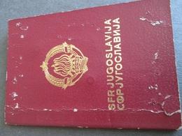 PASSPORT REISEPASS PASSAPORTO PASSEPORT   YUGOSLAVIA 1981/86,  MANY VISAS, FULLY FILLED - Historische Dokumente
