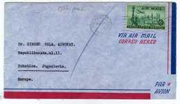 USA To Yugoslavia 1956 South Euclid, Ohio To Subotica, Serbia Via Zagreb And Novi Sad  Air Mail - Storia Postale