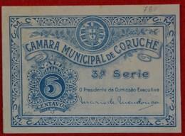 Portugal - Cedula De 5 Centavos / Camara Municipal De Coruche / Distrito De Santarem - Portugal