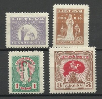 LITAUEN Lithuania 1920 Michel 66 & 68 & 73 - 74 * - Litouwen