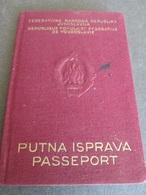 PASSPORT REISEPASS PASSAPORTO PASSEPORT   YUGOSLAVIA 1959 - Documentos Históricos
