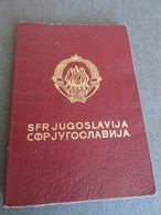 PASSPORT REISEPASS PASSAPORTO PASSEPORT   YUGOSLAVIA 1976/78 - Historische Dokumente
