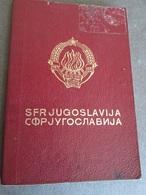PASSPORT REISEPASS PASSAPORTO PASSEPORT   YUGOSLAVIA 1974/76   MANY VISAS, FULLY FILLED - Historische Dokumente
