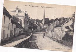 Dépt 27 - DANGU - L'Église Et L'Abreuvoir - Dangu