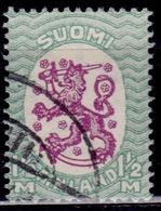 Finland, 1925, Standing Lion, 1 1/2Mk,  Sw#119, Used - Usati