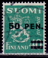 Finland, 1931, Standing Lion, Overprint 50/40p,  Sw#176, Used - Usati