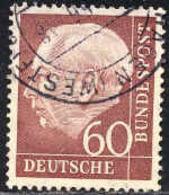 RFA Poste Obl Yv:  71B Mi:190 Theodor Heuss 20x24 (Beau Cachet Rond) - Usados