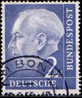 RFA Poste Obl Yv:  72A Mi:195 Theodor Heuss (TB Cachet Rond) - Usados