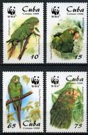 Cuba 1998 MiNr. 4156 - 4159  Kuba Birds Parrots Cuban Parakeet 4v  MNH** 4,80 € - W.W.F.