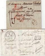 Cachet 81 St JUNIEN Lettre Pour La HONGRIE Et Lettre MEME ARCHIVE à L' INVERSE !!! RARE Haute Vienne - 1801-1848: Vorläufer XIX