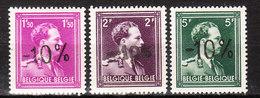 724B/F**  Leopold III Col Ouvert Surchargé -10% - Série Complète - MNH** - LOOK!!!! - 1946 -10%