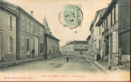 CPA 51-GIVRY-en-ARGONNE - Marne-  Grande Rue- Animée-Bicyclette- Voyagée 1906- Scans Recto Verso- Paypal Sans Frais - Givry En Argonne