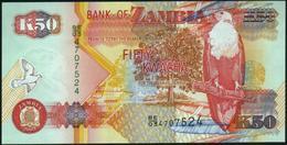 ZAMBIA - 50 Kwacha 2003 UNC P.37 D(2) - Zambie