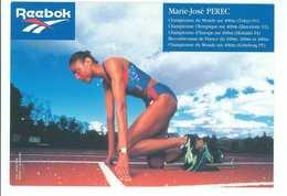 MARIE-JOSE PEREC  - ATHLETISME  -- Signature...Autographe Véritable...(Reebok) - Athletics