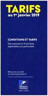 Frankreich / France: 'Postbank – Tarife, 2019' / 'La Banque Postale – Tarifs' / 'Postal Bank – Prices' - Livres & Logiciels