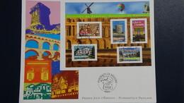 D23 Enveloppe 1er Jour La Numismatique Française Issu Du Bloc N° 61 Dimentions : H = 17.4 Cm L = 22 Cm Poids : 12 Gram - FDC