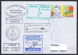 TAAF - Iles Eparses - Bateau MARION DUFRESNE OP3-2018 - Cachet Et Sign. Préfète En Viste à Tromelin - Obl Tromelin 30-11 - Terres Australes Et Antarctiques Françaises (TAAF)