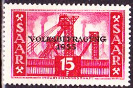 Saargebiet Saar Sarre - Volksbefragung (MiNr: 362) 1955 - Postfrisch MNH - 1947-56 Protectorate