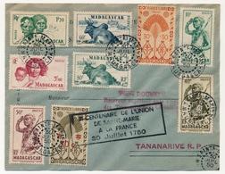 MADAGASCAR - Env. Affr. Comp. Cachet Sainte-Marie Madagascar 30/7/1950 + Bi-centenaire De L'Union..à La France 30/7/1750 - Madagascar (1889-1960)