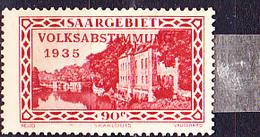 Saargebiet Saar Sarre - Volksabstimmung 1935 (MiNr: 188) 1934 - Postfrisch MH - Unused Stamps