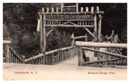 New York  Oneonta  Entrance Otsego Park - NY - New York