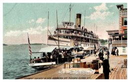 New York  Thousand Islands , Steamer Toronto ,Docked, Alexandra Bay - NY - New York