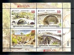 Macedonia, 2018, EUROPA CEPT,BRIDGES,,,BOOKLET,MNH - 2018